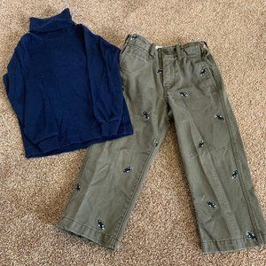 Bundle Baby Gap car pants and shirt 3T